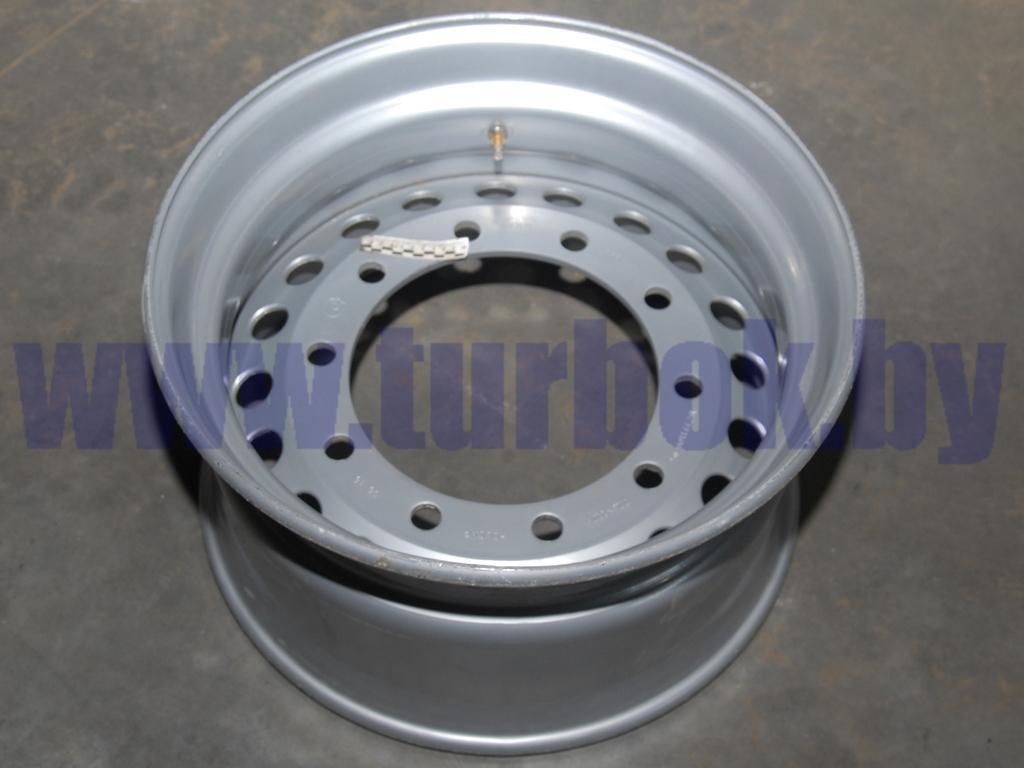 Диск колеса 11.75x22.5 10/335 d281 ET0 без колец на односкатные полуприцепы под диск