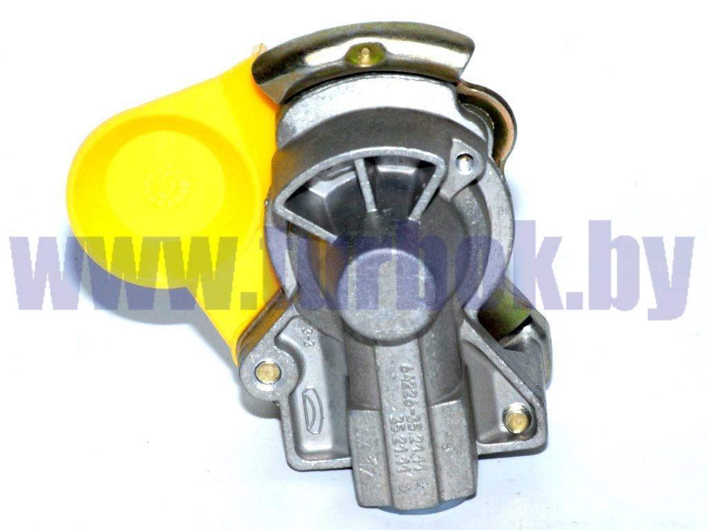 Головка соединительная М16 без клапана жёлтая 68х97х67,5 7493352111400