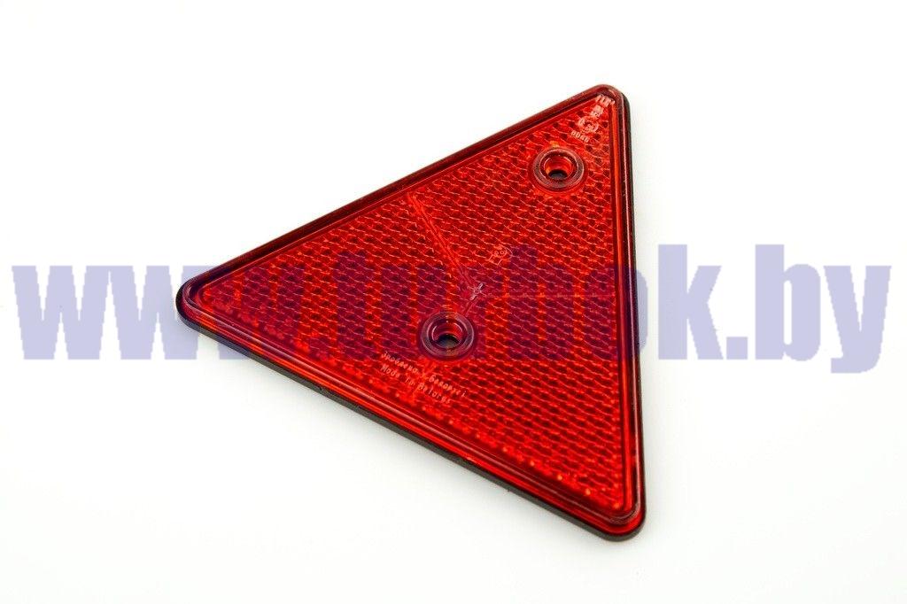 Световозвращатель треугольный (красный)