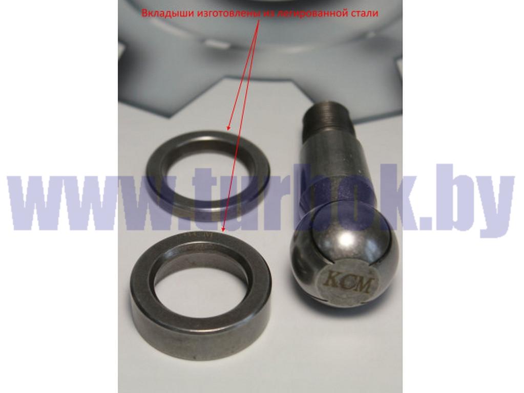 Палец наконечника рулевой тяги в сборе с двумя сухарями МАЗ-4370