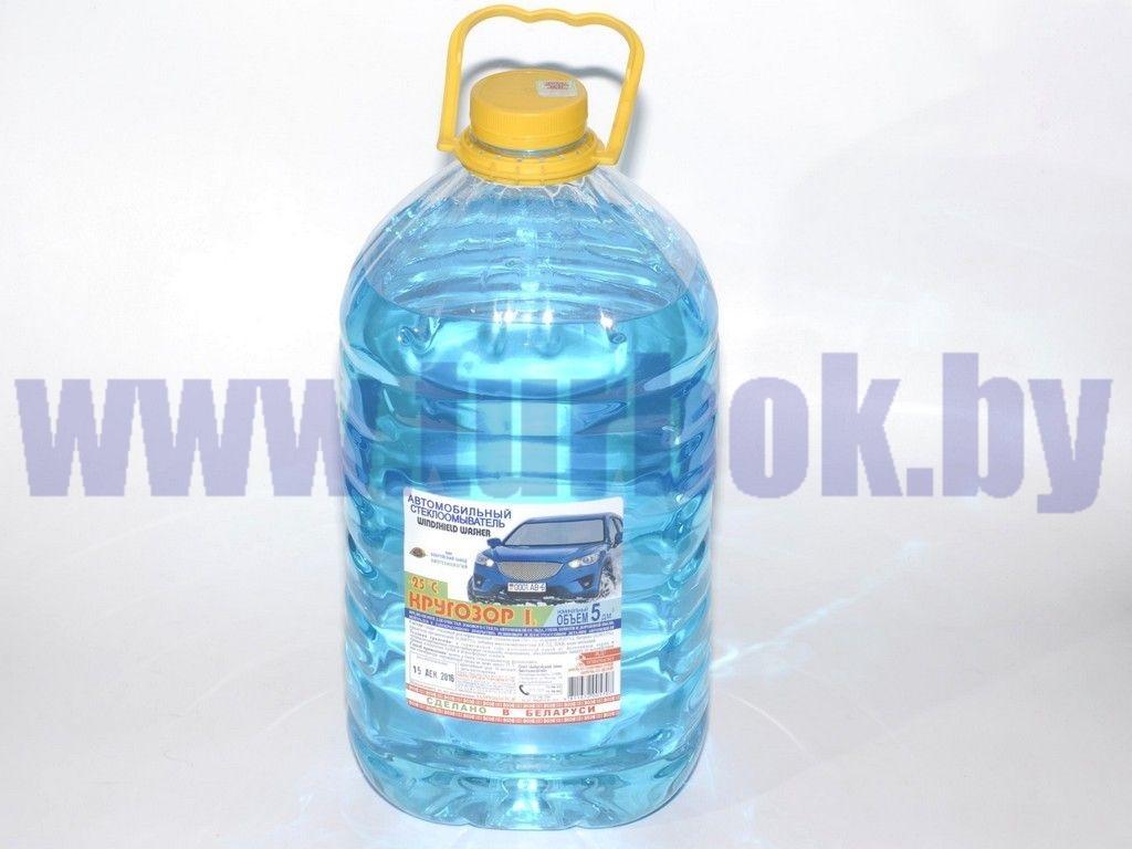 Жидкость стеклоомывающая (-25°С) бутылка 5,0 л г.Бобруйск
