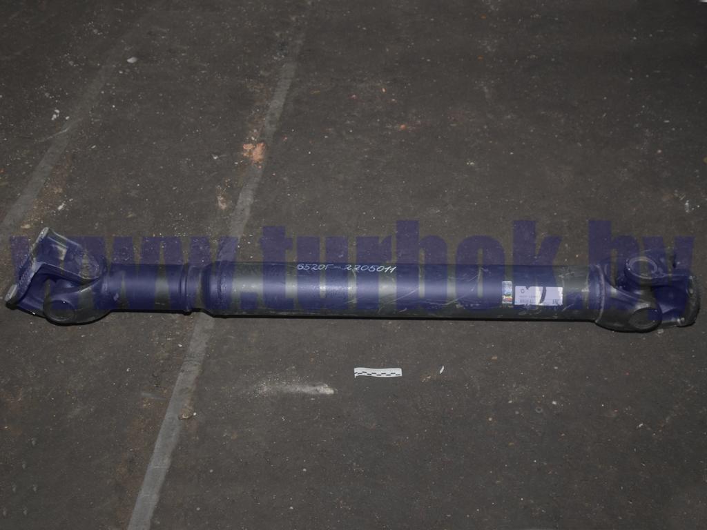 Вал карданный МАЗ-53423, 543205 с КПП-238М, МАЗ-555102  фланец с торцевыми шлицами 4 отв., D=14