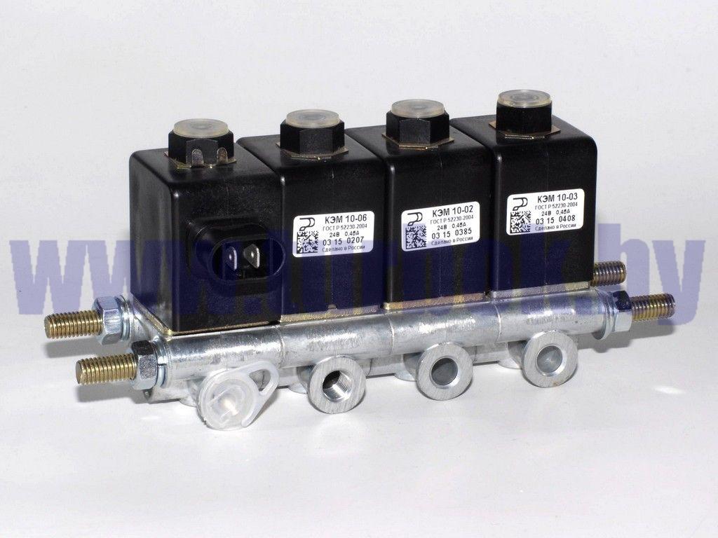 Блок электромагнитных клапанов КАМАЗ (4 шт. КЭМ-10)