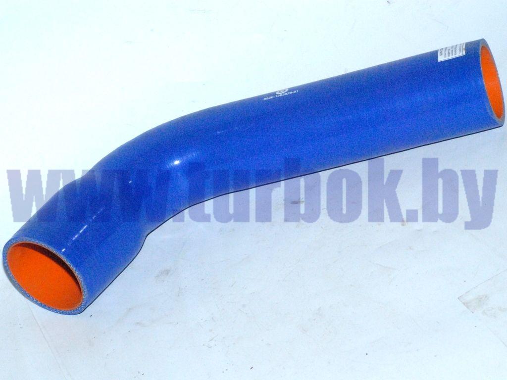 Шланг отводящий (патрубок радиатора нижний,L=280,d=70) КАМАЗ-6520 синий силикон