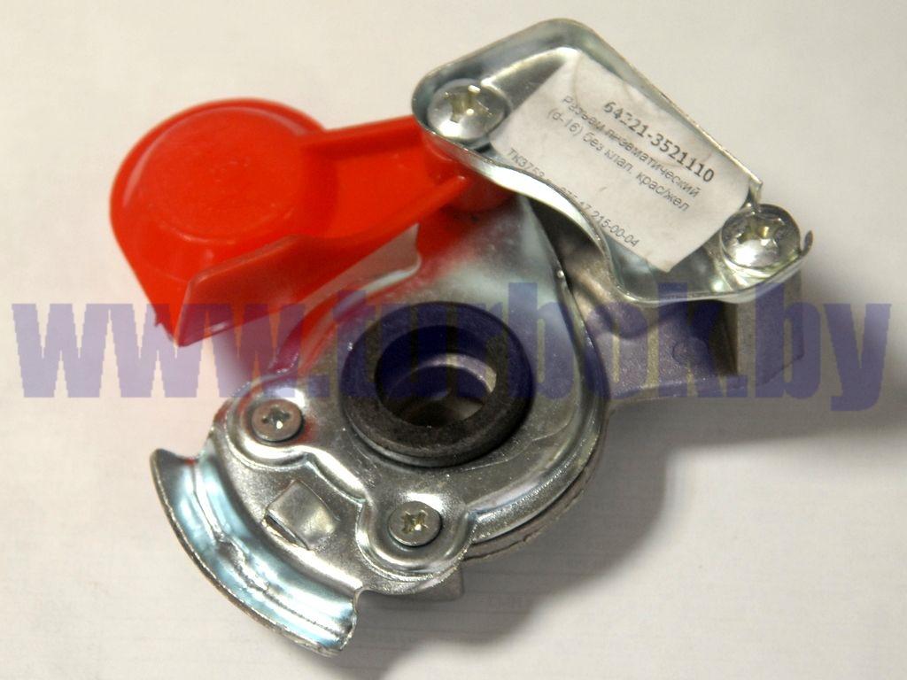 Головка соединительная М16 без клапана красная