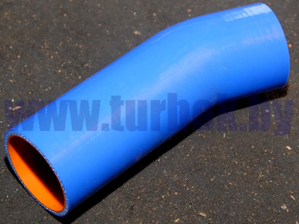 Шланг подводящий (патрубок радиатора верхний,L=191,d=60) КАМАЗ-65115 силикон синий