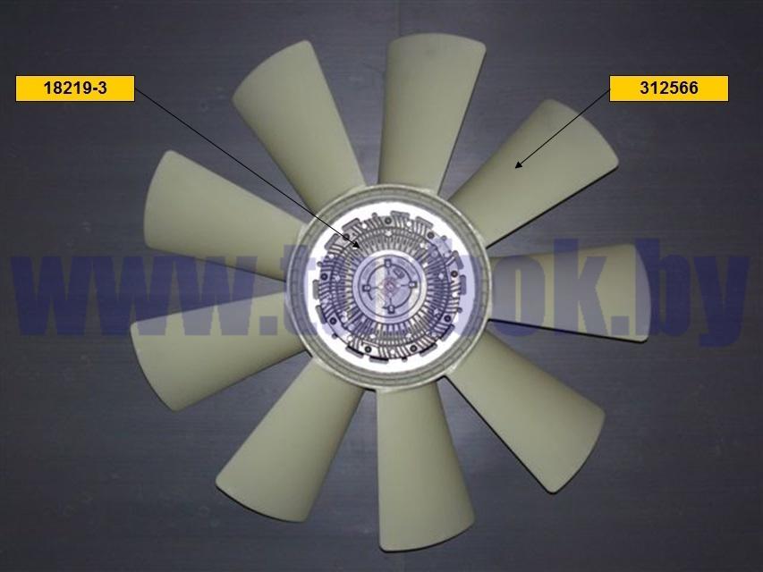 Муфта вязкостная, КАМАЗ Е-2 D=710