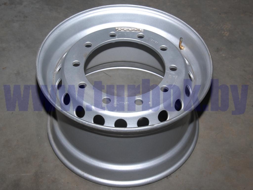 Диск колеса 11,75-22,5 без колец на односкатные полуприцепы под барабан ЕТ0