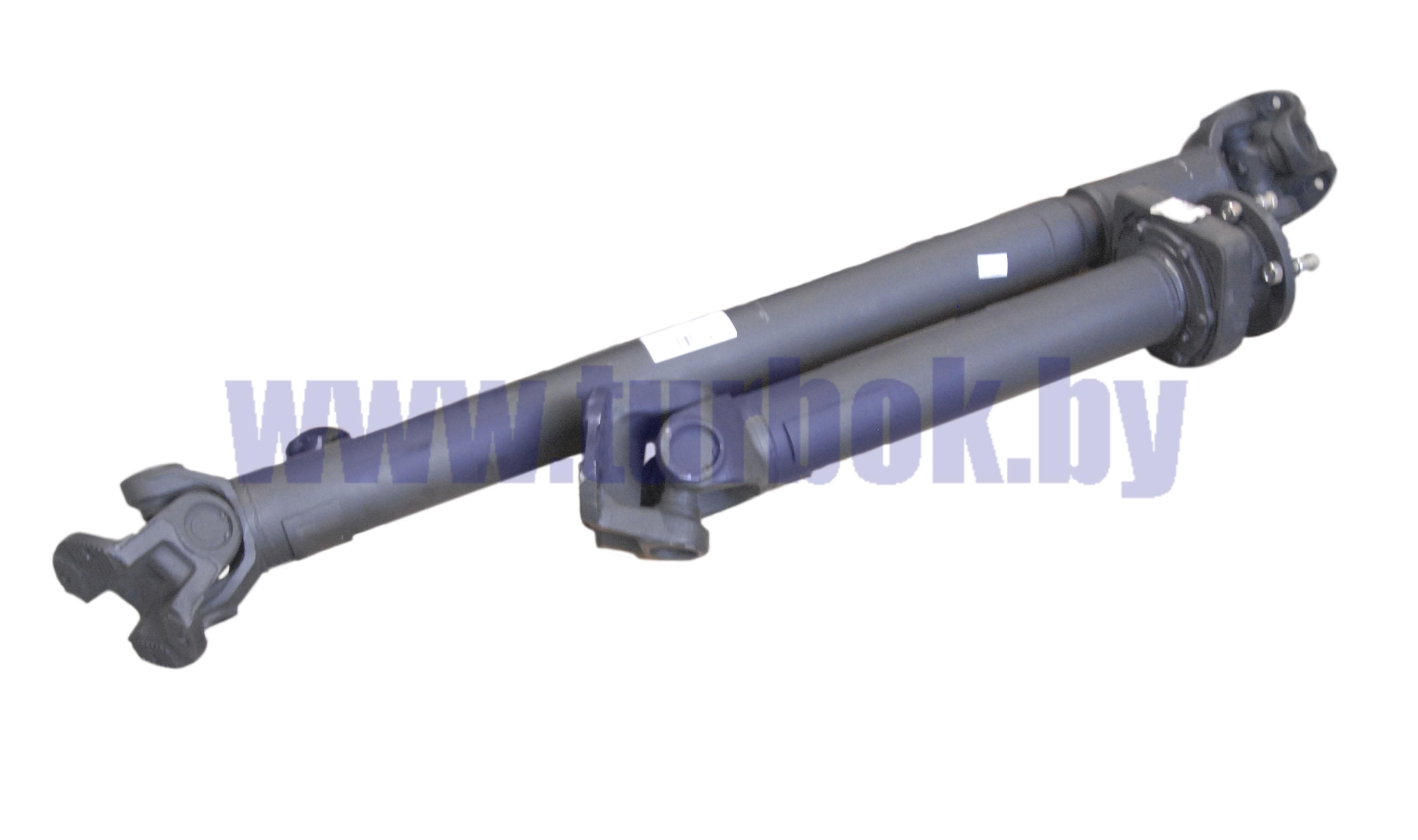 Передача карданная L=2411мм на 4 болта (из двух частей, в комплекте болты)